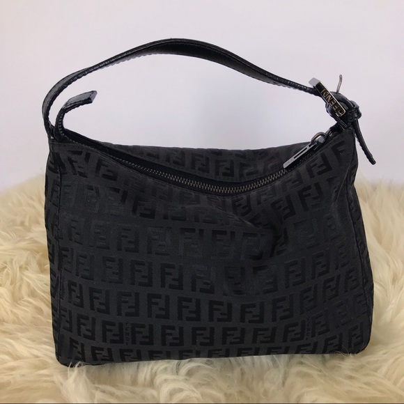 e717b7f885a9 Fendi Handbags - FENDI Vintage Black Monogram Mini Bag Baguette
